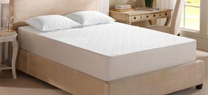 sleep innovations shiloh 12-inch mattress on the bed