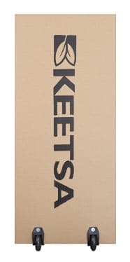 the keetsa box is efficient with 2 wheels