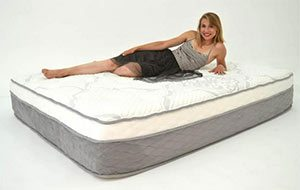 Girl reviewing the nest bedding mattress