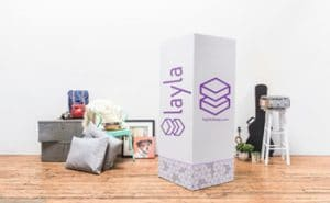 The layla mattress comes in a box