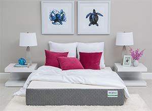 the ghostbed mattress reviewed in a room
