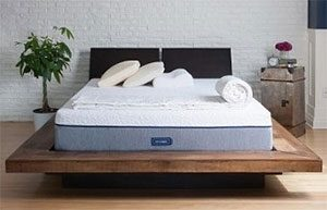 novosbed mattress review in a room