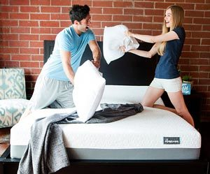 couple playing on the Ameena mattress