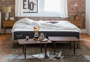 the mattress reviewed in a room