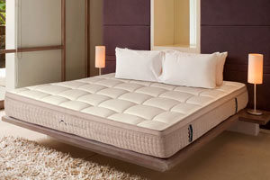 the mattress in a nice room