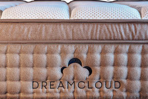 the dreamcloud bed from the front