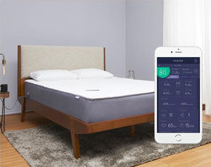 the eight mars+ mattress with a smart phone